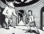 Theseus and the Minotaur by jesus-at-art