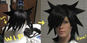Dr. Fudo wig progress - edit by Malindachan