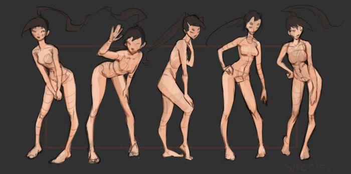 Basic poses (Bent down) by Nieris