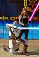 Mara Jade and Gardek at JEHES 8-2 by Gardek