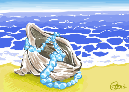 Shell and pearls by KimHiro