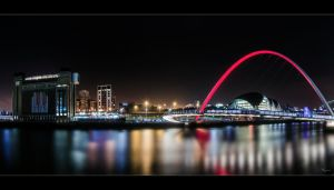 The Tyne - Pano by Wayman