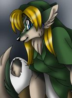 Female wolf anthro Link by AkuOreo