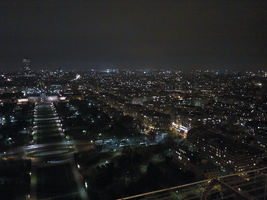 Paris from Eiffel Tower at night by sensum