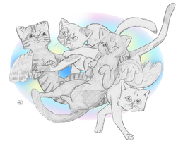 Angel Cats by AgentCricket