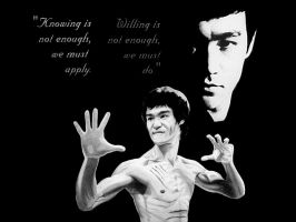 BruceLee on Black by -Wedge- by Wedgewenis