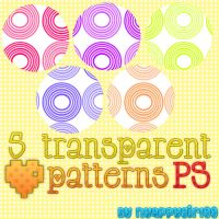 5 Transparents patterns for PS by NyappyGirl99