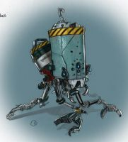 Added Color to Axel's Pet Robot Design by FUNKYMONKEY1945