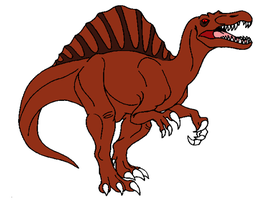 my new spino character by LOST09
