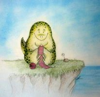 The monster who knits - color by LauraMSS