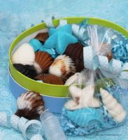 Handmade Seashell Chocolate Candies by theresahelmer