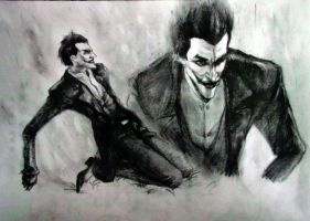 Arkham Origins the Joker sketch by lovejoker4ever