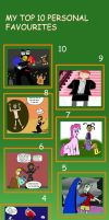 Top 10 Personal Favourites by Kinswaous