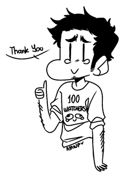 Thank you for 100 watchers by ManiacWithAPen