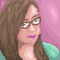 Pixel Self Portrait by r0se-designs