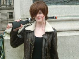 Swapped baseball bat for gun XD by CrystaltheEchidna01