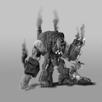 Ork in mega armour by Jazon19