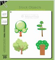 Object Pack - Doodle Trees by MouritsaDA-Stock