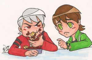 BEN10 - Chibi Ben and Albedo 2 by pan2dapan