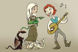 Kvothe Serenades Dany by Duckweed
