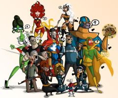 Marvel Characters by kungfumonkey