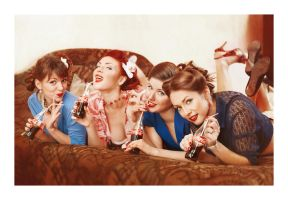 Coca Cola girls by west-kis