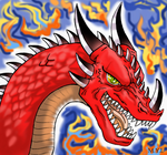RED-FURY dragon battle! (OCs) by XSol-StudiosX