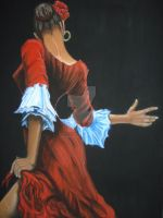 Flamenco dancer by palemoonwolf