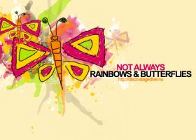 Rainbows and Butterflies by queenning