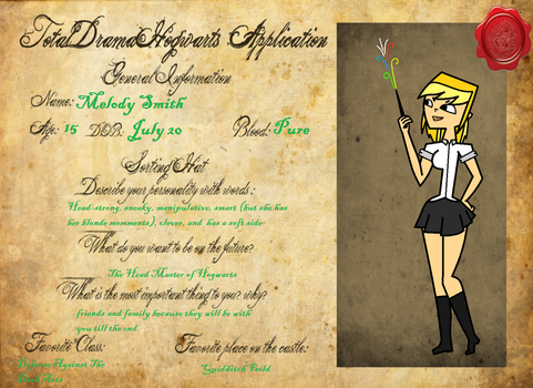 Melody's Hogwarts Application by Numbuh247