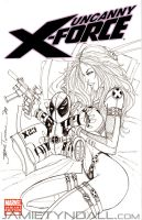 X-23 Sketch Cover Commission by jamietyndall