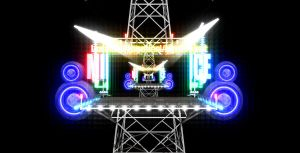 Steel tower stage by chocosunday
