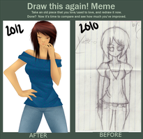 Draw it again meme uvu by SweetSplendor
