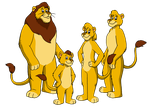 Commission - Knables Family as Lions by BennytheBeast