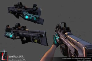 Low Poly Zeuss Electroprojection Rifle by LivewireDeviant