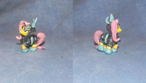 MLP FiM custom blindbag: Fluttershy as ninja bunny by vulpinedesigns