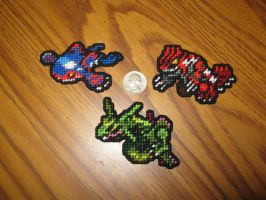 Pokemon Sprite Stitches  - Kyogre Groudon Rayquaza by UWorlds