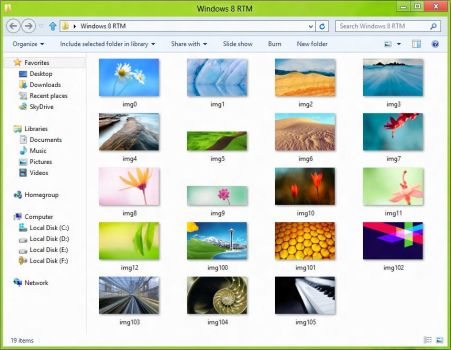 Windows 8 RTM Wallpapers by Misaki2009