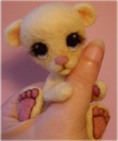 Needle Felted Artist Bear by ZadaCreations