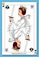 Leia Organa, Queen of Clubs by LadyIlona1984