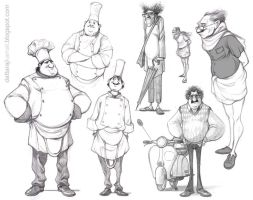 ...character sketches by Dattaraj