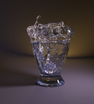 Blender Cycles Glass water ice by krzywyzielarz
