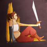 A Warrior Relaxes by LimeVines