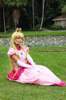 Cosplay Princess Peach - Super Mario Bros by MishiroMirage