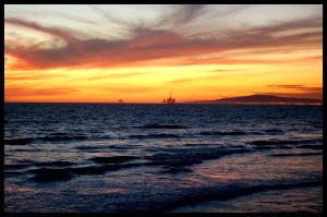 Huntington Beach Oil Rigs by Ashz