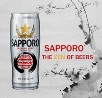 Sapporo the ZEN of Beers by gloriagypsy