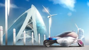 windpower vehicle 3-quarter by aquaking
