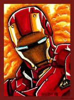 Sketch Card: Iron Man by ChrisWithATa