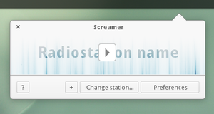 elementary Radiostation player by Dikoo