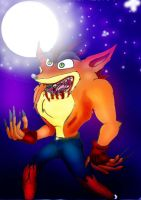 Crash as a Werewolf-demonthing by ASHnCRASH